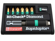 Wera WER056371 - Bit-Check BiTorsion Diamond Coated Pozi Set of 7