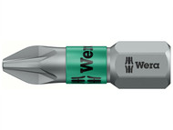 Wera WER056722 - 855/1 BTZ BiTorsion Pozidriv PZ2 Bit Extra Tough 25mm Pack 10