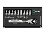 Wera WER073645 - BCBR9 Zyklop Bit-Check Ratchet & Bit Set of 10