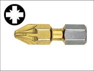 Witte WIT328446 - Pozidriv 2pt Titanium Coated Bits 25mm (Strip of 10)