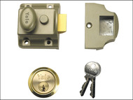 Yale Locks YAL706PB - 706 Traditional Nightlatch 40mm Backset ENB Finish Box