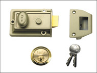 Yale Locks YAL77ENBPB - 77 Traditional Nightlatch 60mm Backset Nickel Brass Finish Box
