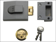 Yale Locks YAL81DMGPB - 81 Rollerbolt Nightlatch 60mm Backset DMG Finish Box