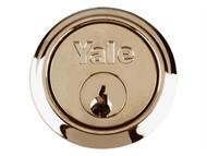 Yale Locks YALB1109PB - B1109 Replacement Rim Cylinder & 2 Keys Polished Brass Finish Box