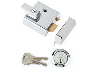Yale Locks YALP1CHNL - P1 Double Security Nightlatch 60mm Backset Chrome Finish Visi