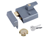 Yale Locks YALP1DMGPB - P1 Double Security Nightlatch 60mm Backset DMG Dark Grey Finish Visi