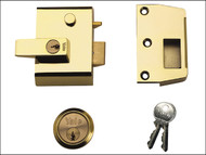 Yale Locks YALP2B - P2 Double Security Nightlatch 40mm Backset Brasslux Finish Visi