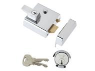 Yale Locks YALP2CHNL - P2 Double Security Nightlatch 40mm Backset Chrome Finish Visi