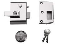 Yale Locks YALP2DMGPB - P2 Double Security Nightlatch 40mm Backset DMG/PB Finish Visi