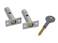 Yale Locks YALP2PM444CH - PM444 Door Security Bolt Polished Chrome Finish Visi of 2