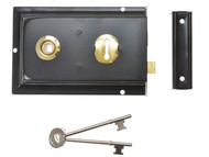 Yale Locks YALP334BK - P334 Rim Lock Black Finish 156 x 104mm Visi