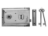 Yale Locks YALP334CH - P334 Rim Lock Chrome Finish 156 x 104mm Visi