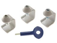 Yale Locks YALP3P121WH - P121 Window Stay Clamps Pack of 3