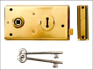 Yale Locks YALP401PB - P401 Rim Lock Polished Brass Finish 138 x 76mm Visi