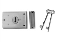 Yale Locks YALP402CH - P402 Rim Lock Chrome Finish 102 x 76mm Visi