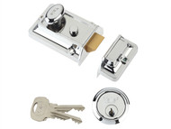 Yale Locks YALP77CH - P77 Traditional Nightlatch 60mm Backset Chrome Finish Visi