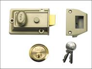Yale Locks YALP77ENBPB - P77 Traditional Nightlatch 60mm Backset ENB Finish Visi