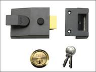 Yale Locks YALP89BLX - P89 Deadlock Nightlatch 60mm Backset Brasslux Finish Visi