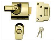 Yale Locks YALPBS1BLX - BS1 Nightlatch British Standard Lock 60mm Backset Brasslux Finish Visi