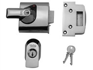 Yale Locks YALPBS1CH - BS1 Nightlatch British Standard Lock 60mm Backset Chrome Finish Visi