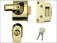 Yale Locks YALPBS2BLX - BS2 Nightlatch British Standard Lock 40mm Backset Brasslux Finish Visi