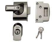 Yale Locks YALPBS2CH - BS2 Nightlatch British Standard Lock 40mm Backset Chrome Finish Visi