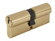 Yale Locks YALPKM4545PB - Euro Double Cylinder Kitemark 45 x 45 (100mm) Polished Brass Visi