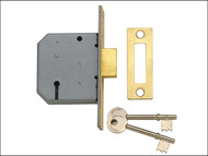 Yale Locks YALPM322PB25 - PM322 3 Lever Mortice Deadlock Polished Brass 65mm 2.5in