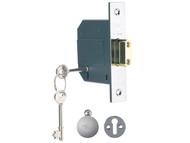 Yale Locks YALPM562CH25 - PM562 Hi-Security BS 5 Lever Mortice Deadlock 68mm 2.5 inch Polish Chrome