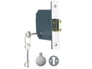 Yale Locks YALPM562CH30 - PM562 Hi-Security BS 5 Lever Mortice Deadlock 81mm 3 inch Polish Chrome