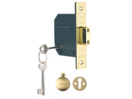 Yale Locks YALPM562PB25 - PM562 Hi-Security BS 5 Lever Mortice Deadlock 68mm 2.5 inch Polish Brass