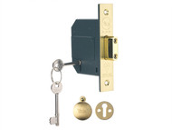Yale Locks YALPM562PB30 - PM562 Hi-Security BS 5 Lever Mortice Deadlock 81mm 3 inch Polish Brass
