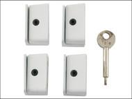 Yale Locks YALV8K1094WE - 8K109 Window Stop White Pack of 4 Visi
