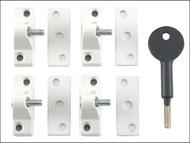 Yale Locks YALV8K1184WE - 8K118 Economy Window Lock White Finish Pack of 4 Visi