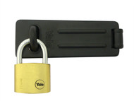 Yale Locks YALY11040HSP - Hasp & Brass Padlock Set 40mm