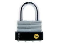 Yale Locks YALY12550 - Y125 50mmLaminated Steel Padlock