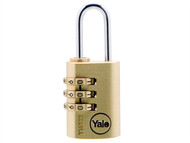 Yale Locks YALY15022 - Y150 22mm Brass Combination Padlock