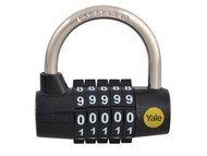 Yale Locks YALY16048 - Y160 48mm Steel 5-Dial Combination Padlock