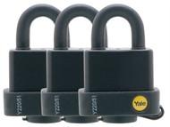 Yale Locks YALY220513PK - Y220 51mm Weatherproof Padlock (3 Pack)