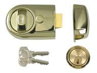 Yale Locks YALY3BLXPB60 - Y3 Nightlatch Modern 60mm Backset Brasslux Finish Visi