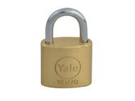 Yale Locks YALYE120 - YE1 Brass Padlock 20mm