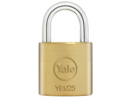 Yale Locks YALYE125 - YE1 Brass Padlock 25mm