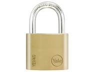 Yale Locks YALYE140 - YE1 Brass Padlock 40mm