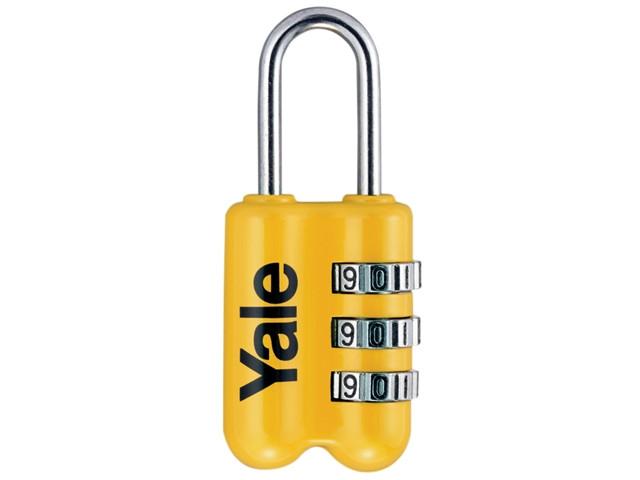 26mm Yale Locks YALYTP226 TSA Clip On Padlock Mixed Colour