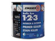 Zinsser ZINBE12325L - 123 Bulls Eye Primer / Sealer Paint 2.5 Litre
