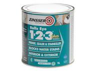Zinsser ZINBE123P1L - 123 Bulls Eye Plus Primer / Sealer Paint 1 Litre