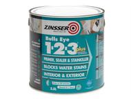 Zinsser ZINBE123P25L - 123 Bulls Eye Plus Primer / Sealer Paint 2.5 Litre