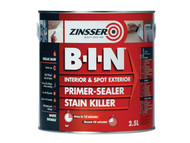 Zinsser ZINBIN25L - B.I.N Primer / Sealer Stain Killer Paint 2.5 Litre