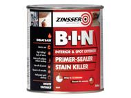 Zinsser ZINBIN500 - B.I.N Primer / Sealer Stain Killer Paint 500ml
