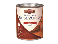 Liberon LIBVWNCWE1L - Natural Finish Floor Varnish Wax Effect Light Oak 1 Litre